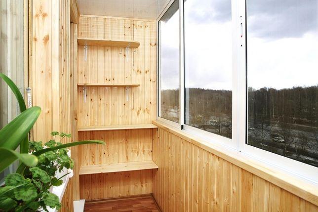 Обшивка и утепление балкона, установка окон