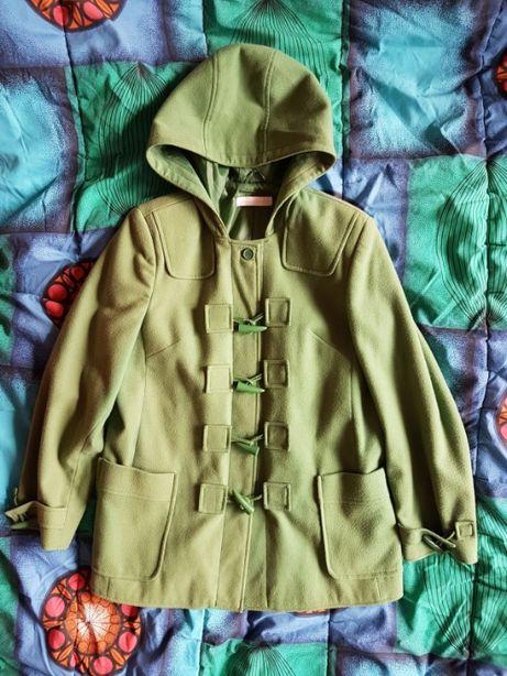 Zielony płaszczyk z kapturem Casual Comfort