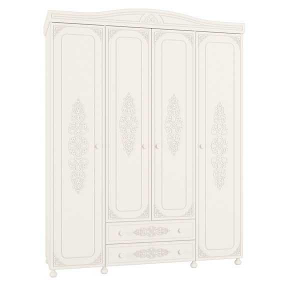 Шкаф белый в спальню 4д Борисполь - изображение 1