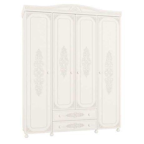 Шкаф белый в спальню 4д