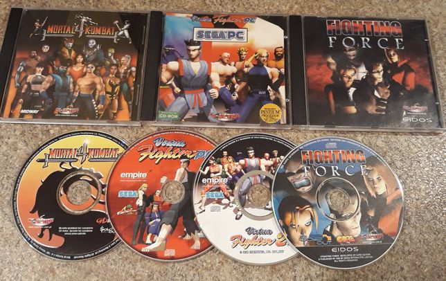 Mortal Kombat 4, Virtua Fighter 1 + 2, Fighting Force - gry PC