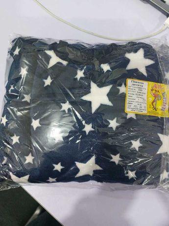 Пижама махровая синяя звезды на 6-7 лет