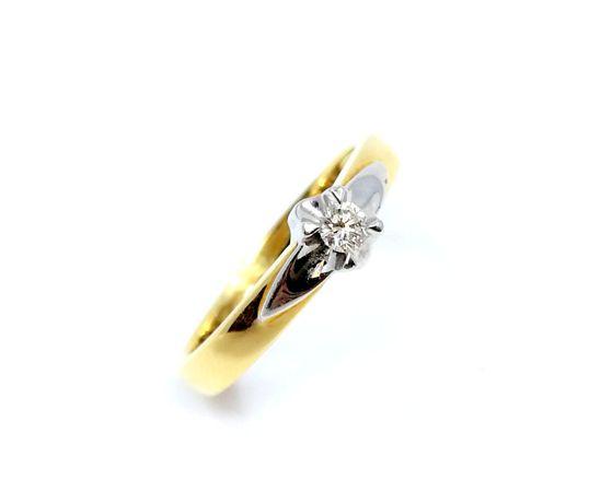 Złoty pierścionek YES z brylantem 0,08ct,pr.585 roz.15 InterLOMBARD