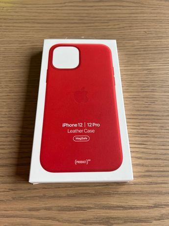 Apple Leather Case Czerwony dla iPhone 12/12 Pro