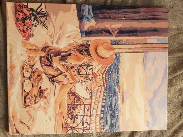 Нарисованная картина по номерам Отдых в Париже