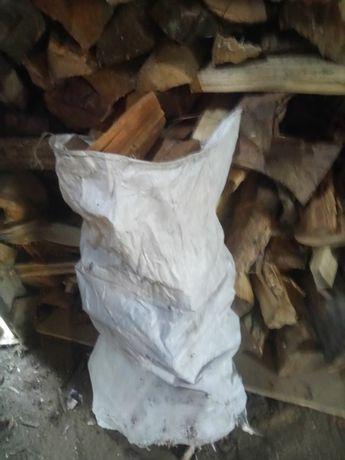 Drewno opalowe  liściaste workowane