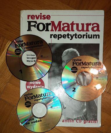 język angielski podręcznik revise For Matura repetytorium, 3x CD audio