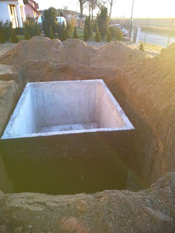 Szamba betonowe 3,5,6,8,10,12m³