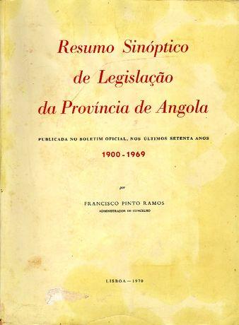 Resumo Sinoptico de Legislaçao da Provincia de Angola (1900 - 69)
