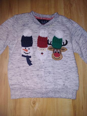Świąteczny sweterek r. 92-98