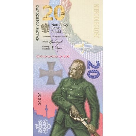 Banknot Bitwa Warszawska 1920
