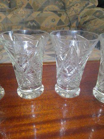 Хрустальные стаканы. Высокие. Хрусталь СССР. Два набора.