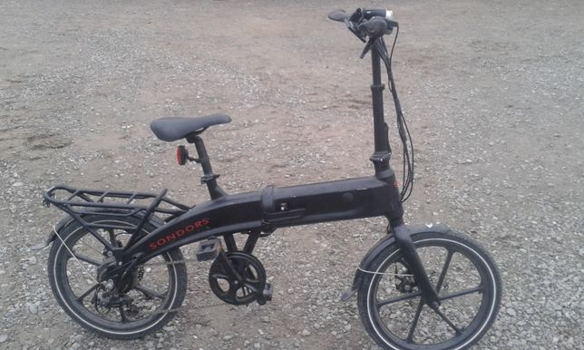 Aluminiowy Rower Składak Składany Sondors Koła 20 cali Elektryczny