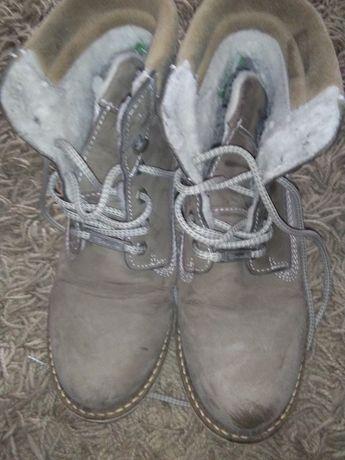 skórzane zimowe trapery Tamaris
