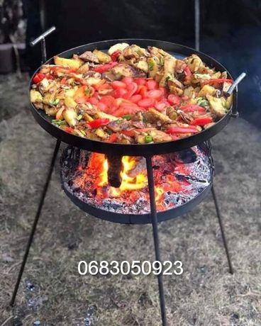 Сковорода 50 см с подставкой для огня, садж, мангал