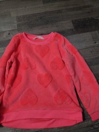 Bluza H&M 110/116 różowa w serca