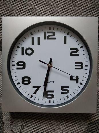 Zegar kuchnia srebrny nowy