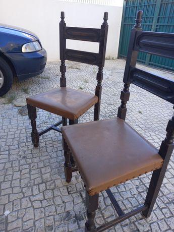 Cadeiras madeira vintage