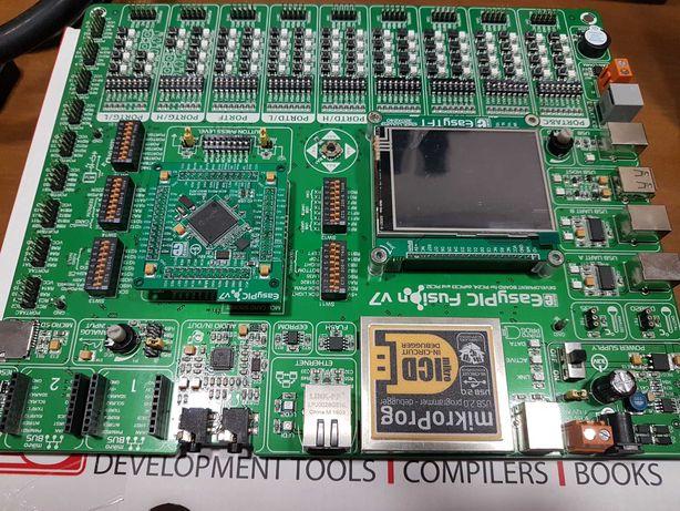 Placa de desenvolvimento EasyPIC Fusion V7 nova