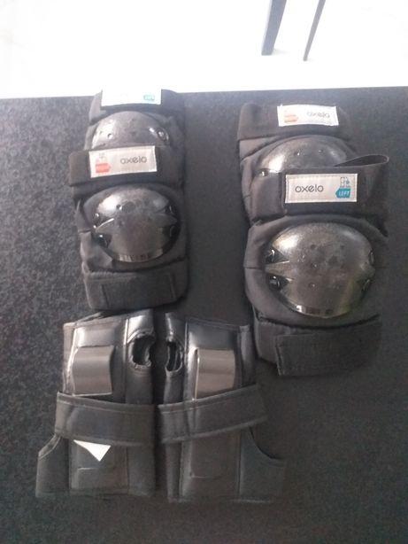 Zestaw ochraniaczy na rolki, rower, deskorolkę OXELO rozmiar S