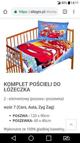 Pościele do łóżeczka 120×90 komplet Disney Auta Cars