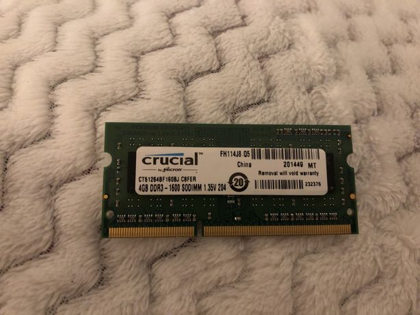 Pamięć RAM 4GB DDR3 do laptopa