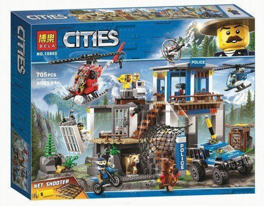 Конструктор Bela 10865 Город Полицейский участок в горах ан Lego 60174