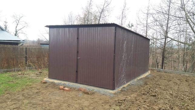 Garaż 3x5m w kolorze brązowym( Blaszak ,Schowek,4x5 6x5 9x5 PRODUCENT)