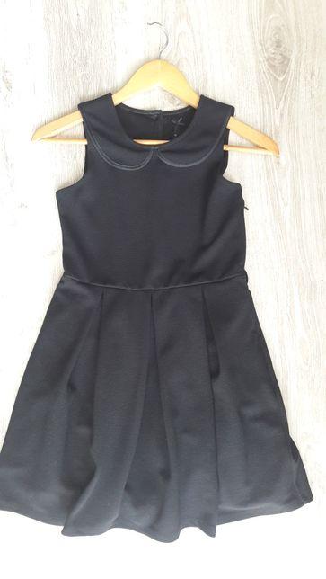 Czarna elegancka wizytowa sukienka NEXT r. 140, jak nowa