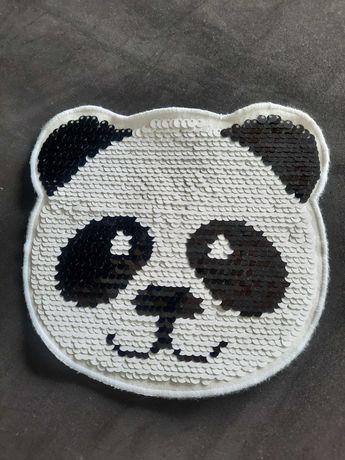 Patch/Remendo Panda em lantejoulas