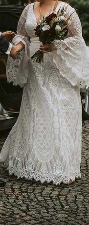 Suknia ślubna Atlantis, styl BOHO/RUSTYKALNY rozmiar 44/46