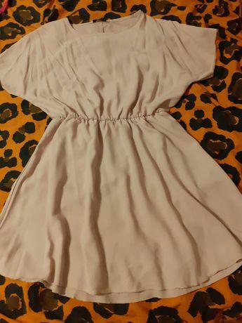 Piękna letnia sukienka w kolorze brudnego różu firmy zeagoo L