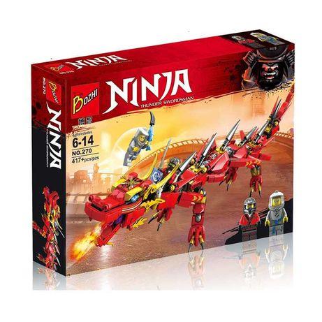 Конструктор Bozhi 270 Ninja Ниндзя Красный дракон 417 дет. Лего Lego