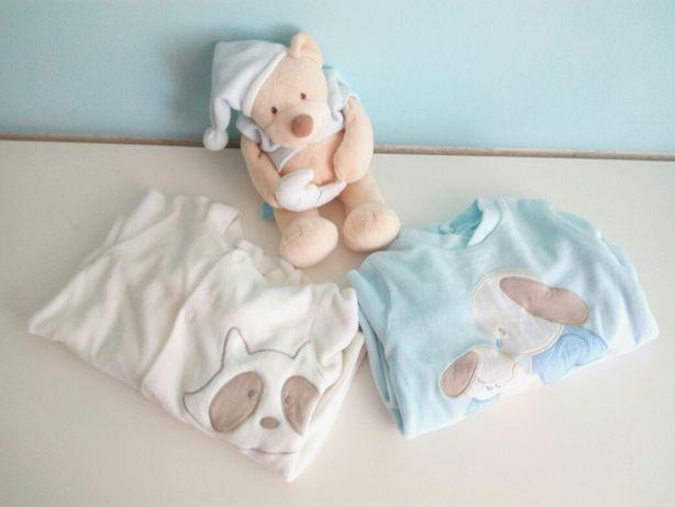 Babygrows de manga comprida em algodão aveludado, quente - 12m/1 ano