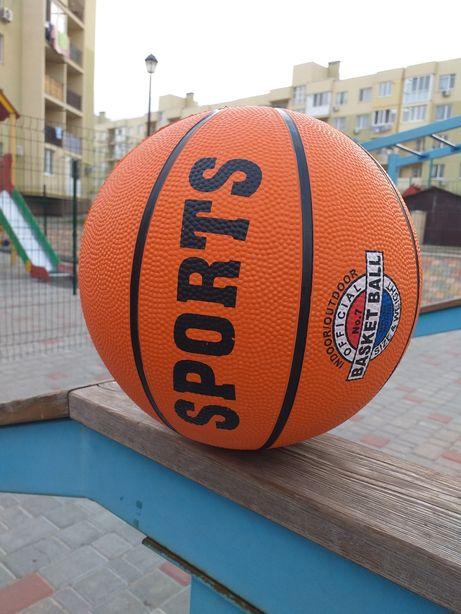 Мяч баскетбольный 7 размер новый оранжевый