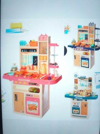 Много Кухня детская звуковая с холодильником и циркуляцией воды