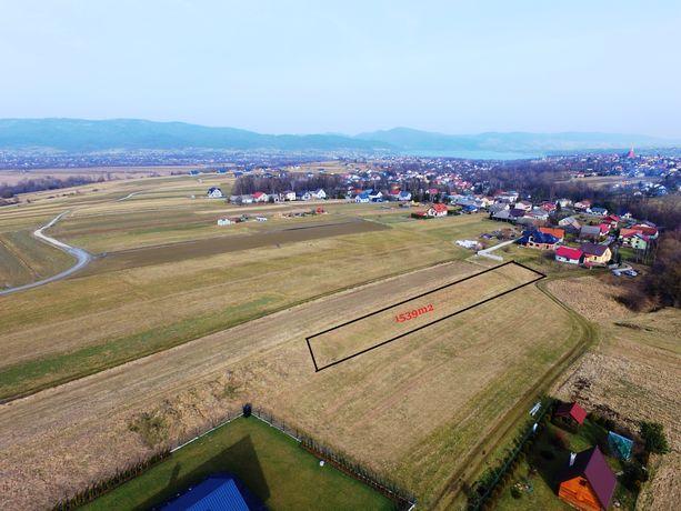Widokowa działka budowlano- usługowa w Pietrzykowicach, 1500m2