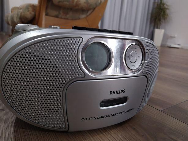 Radio CD magnetofon Philips boombox! Sprawny!