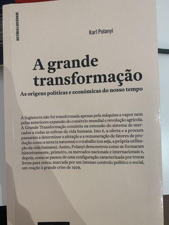 """Livro """" A Grande Transformação"""" Karl Polanyi"""