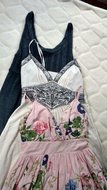 Zestaw trzech pięknych sukienek ciążowych, rozmiar XS/S, (34/36).