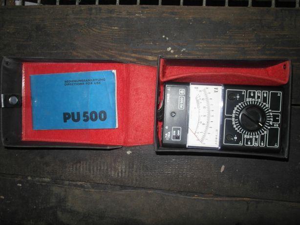 Miernik uniwersalny PU 500, futerał, instrukcja.