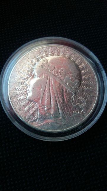 Moneta 10 zł. 1932 zm Babka srebra-srebro antyk.