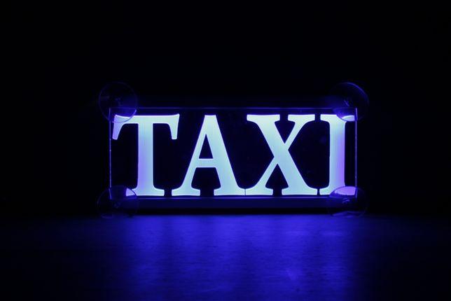 LED Шашка такси, Taxi, фишка на присосках
