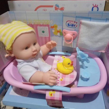 Кукла пупс в ванночке с аксессуарами