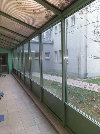 Drzwi aluminiowe + fasada, ogród zimowy