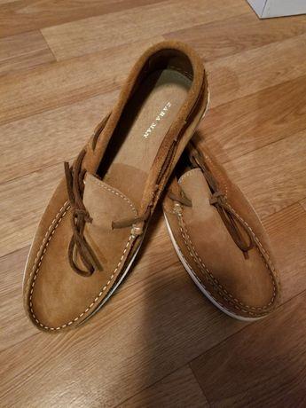 Фирменные замшевые туфли ZARA MEN