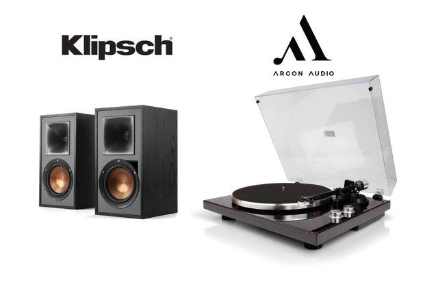 Klipsch R-51PM Kolumny Gramofon Argon Audio TT-1 | Pomysł na prezent