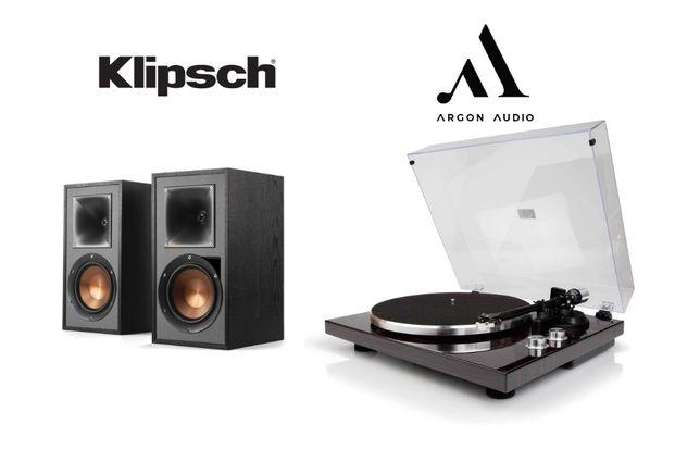 Aktywne głośniki Klipsch R-51PM z gramofonem Argon Audio TT-1 Raty 0%