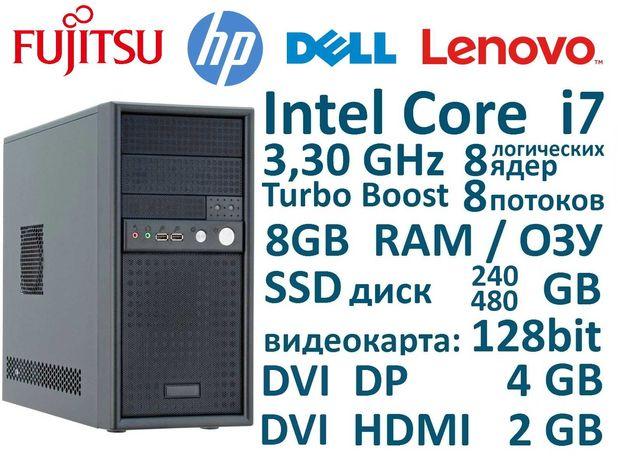 CPU: Core i7 8 потоков 8ГБ ОЗУ, SSD, Системный блок из Европы
