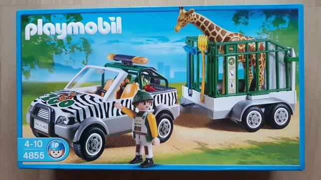 Playmobil 4855 Samochód ZOO z przyczepą. zwierzęta animals playmobile